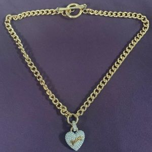 Juicy Couture Pave Heart Starter Necklace